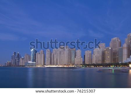 City Scape, Jumeirah Beach Residence, Dubai - stock photo