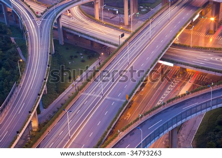 City Scape of the hangzhong china. - stock photo