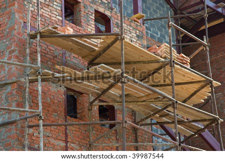 city series: building under construction with scaffolding