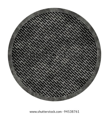 City sewer cover (Manhole series) a great image for your job. - stock photo