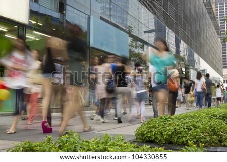 city shopping - stock photo