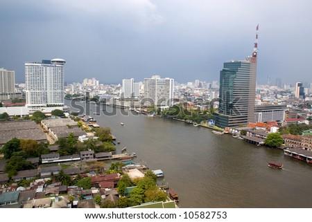 City skyline at. Bangkok Thailand. - stock photo