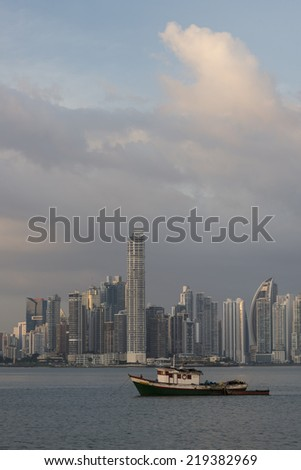 City skyline at Panama City, Panama, Central America - stock photo
