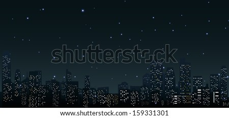 City skylines at night .urban scene  - stock photo