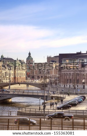 City Stockholm. HDR  - stock photo