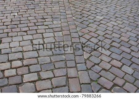 city stone walkway - stock photo
