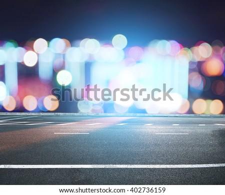 city street road  - stock photo