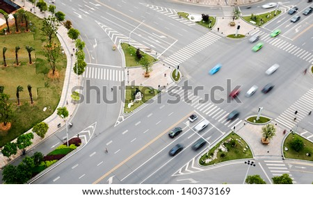 City street traffic - stock photo