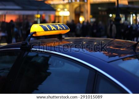 City Taxi sign - stock photo