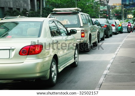 City traffic - stock photo