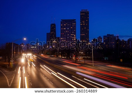 city traffic at night