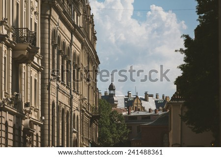 City view in Riga, Latvia - stock photo