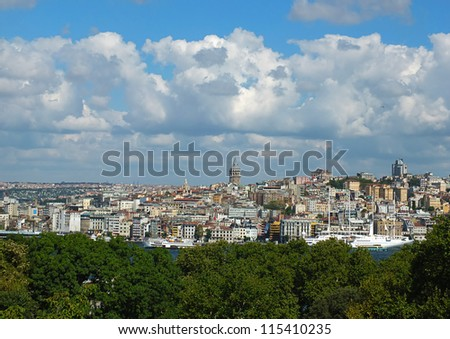 City view, Istanbul - stock photo