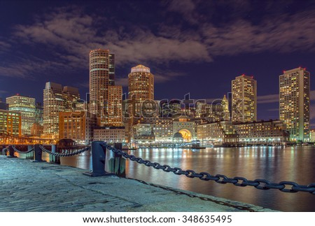 city view of Boston, Massachusetts, USA