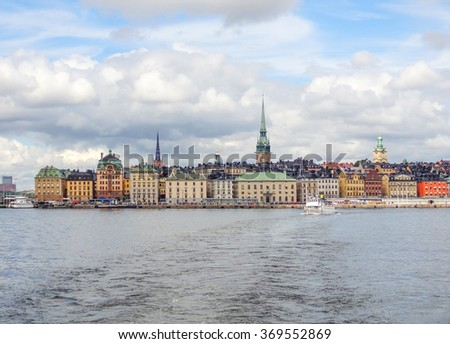 City view of Stockholm, the capital of Sweden