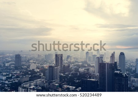 City View Sunset Sky Concept