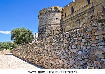 City walls. Castro. Puglia. Italy. - stock photo