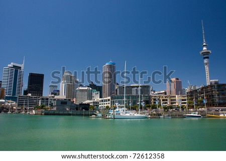 City waterfront. Auckland, New Zealand - stock photo