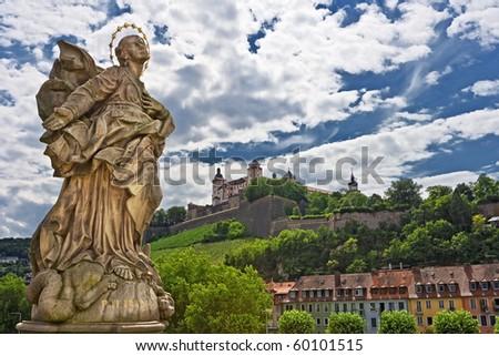 City Wuerzburg - stock photo