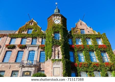Cityhall in the German city Dusseldorf - stock photo