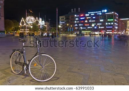 Cityhall square located at Copenhagen, Denmark - stock photo