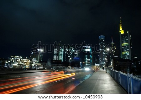 Citylights in Frankfurt