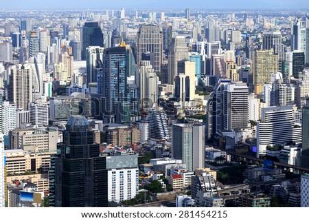 Cityscape Bangkok, Thailand. - stock photo