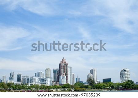 Cityscape  Bangkok, Thailand - stock photo