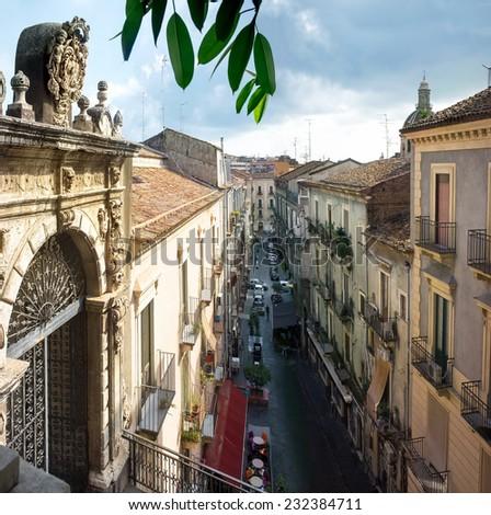 Cityscape. Catania. Sicily. Italy - stock photo