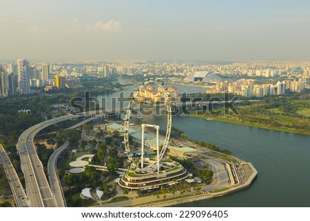 Cityscape downtown  in singapore - stock photo
