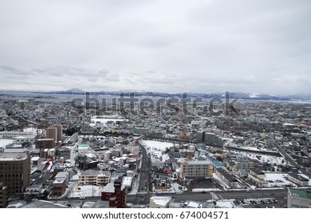 Cityscape from top of building