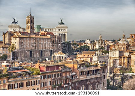 Cityscape image of Rome, Italy. - stock photo