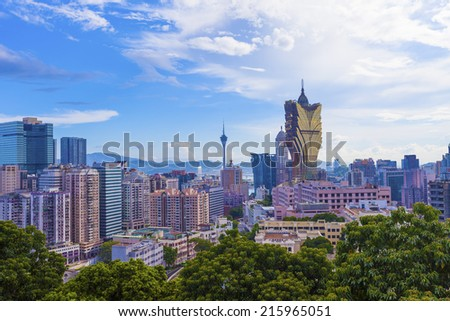 Cityscape in Macau, China.