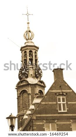 Cityscape in Netherlands Europe - landmark of Amsterdam - stock photo