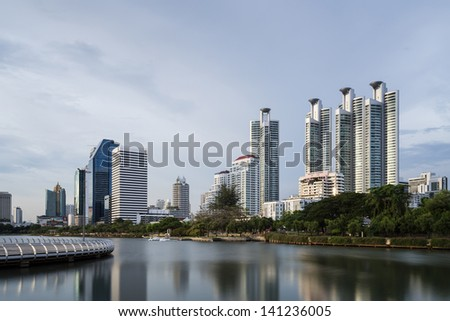 Cityscape in urban area of Bangkok