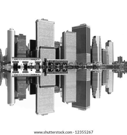 cityscape - new york city skyline - stock photo