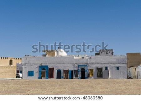 Cityscape of ancient city, Kairouan in Tunisia, africa - stock photo