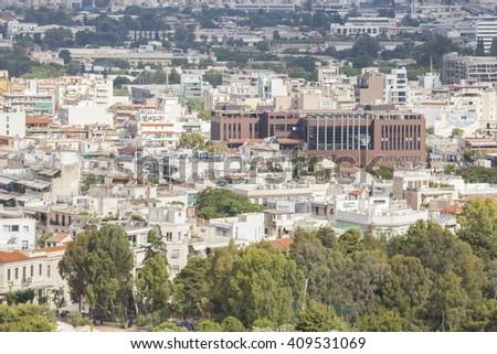 Cityscape of Athens. - stock photo