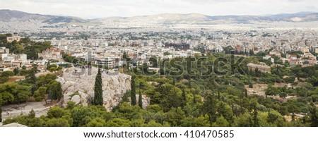 Cityscape of Athens - stock photo