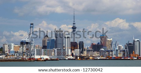Cityscape of Auckland New Zealand - stock photo