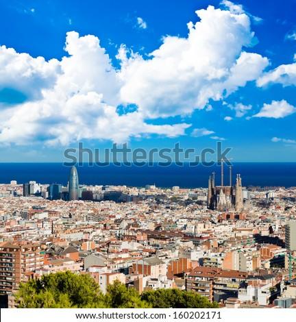 Cityscape of Barcelona. Spain. - stock photo