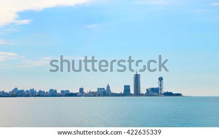 Cityscape of Batumi in the sunshine day. Georgia - stock photo
