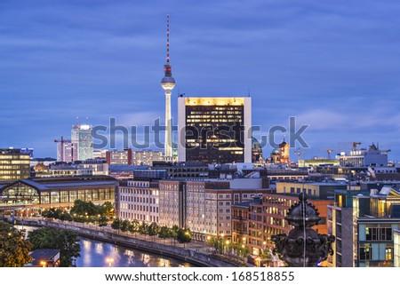 Cityscape of Berlin, Germany. - stock photo