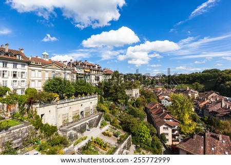 Cityscape of Berne old town in Switzerland - stock photo