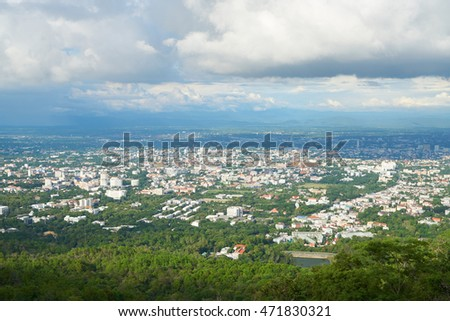cityscape of Chiang mai, northern province of Thailand