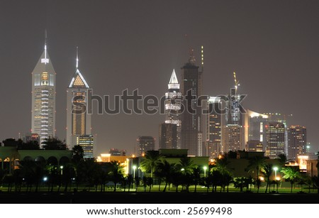 Cityscape of Dubai, United Arab Emirates - stock photo