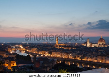 Cityscape of Florence from Brunelleschi's Dome
