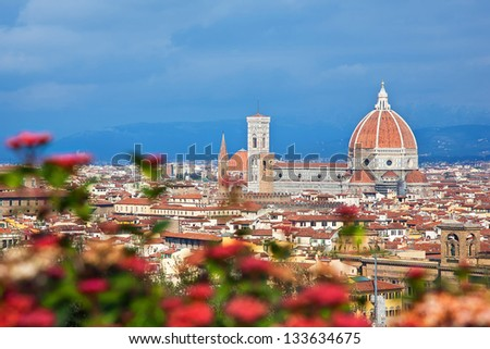 Cityscape of Florence, Italy - stock photo