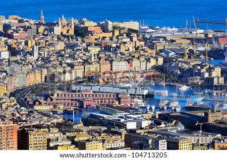 cityscape of Genoa, Italy - stock photo