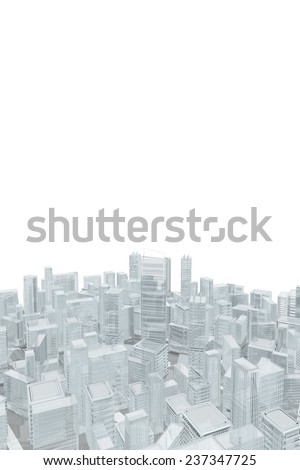 Cityscape of glass buildings - stock photo